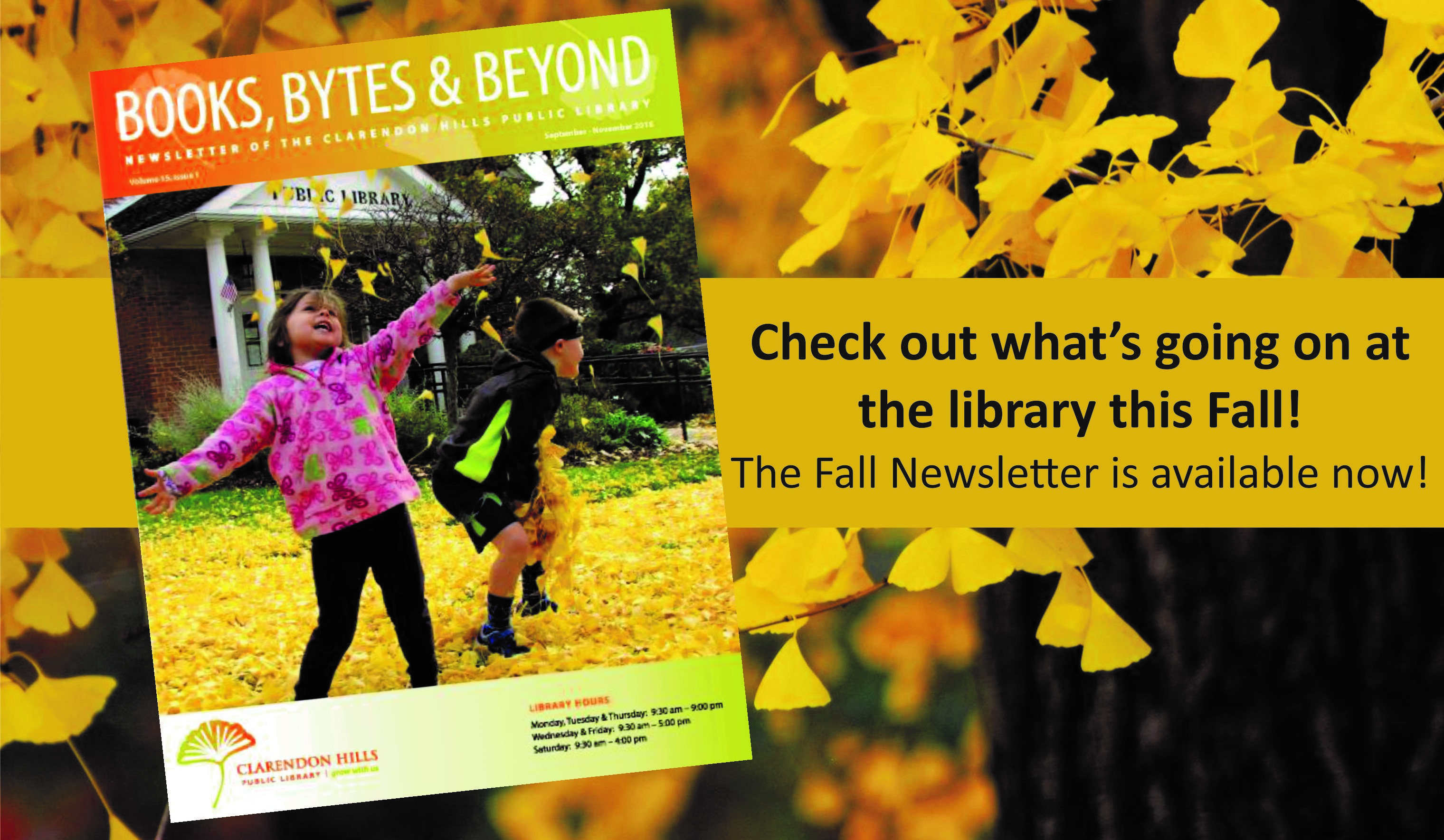 Fall Newsletter is here!